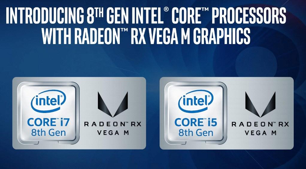 Intel Core 8th with Radeon RX Vega M